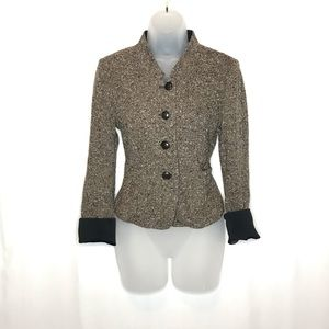 MaxMara wool cupro tweed suit blazer jacket